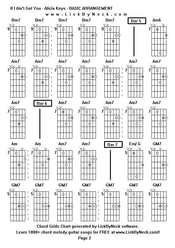 Lick By Neck - Learn Solo Chord Melody Fingerstyle Guitar ... Alicia Keys