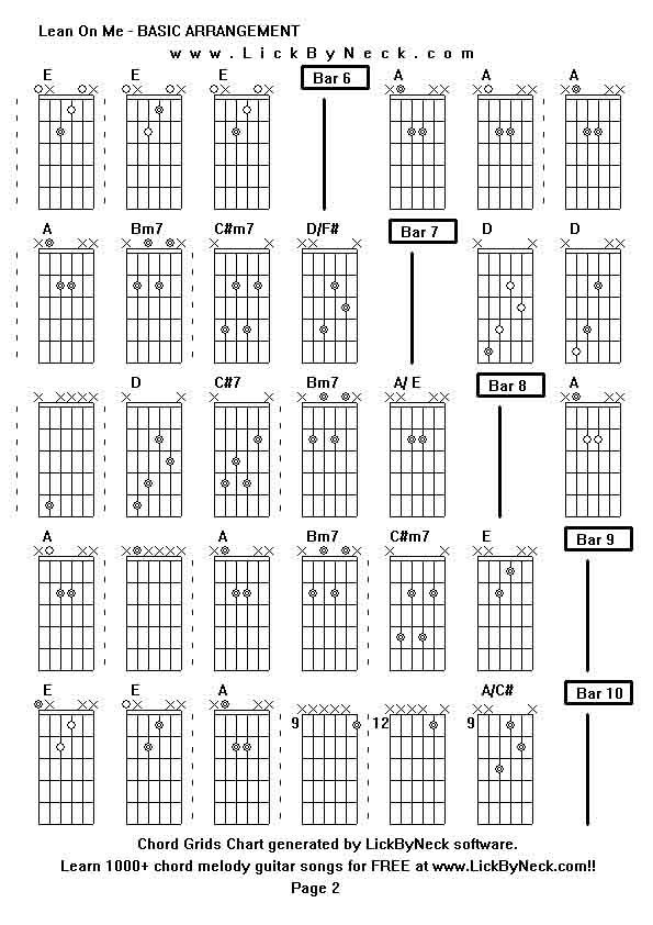 Old Fashioned Lean On Me Guitar Chords For Beginners Elaboration ...