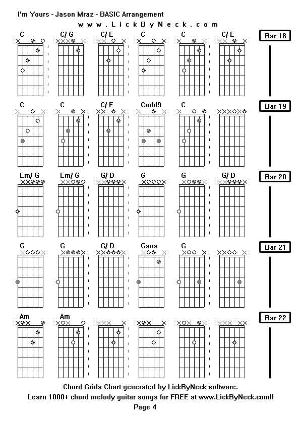 Chord Guitar Im Yours Image Collections Basic Guitar Chords Finger