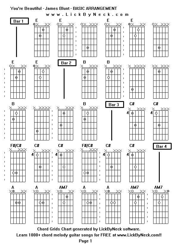 James Blunt Beautiful Guitar Chords Choice Image Guitar Chords