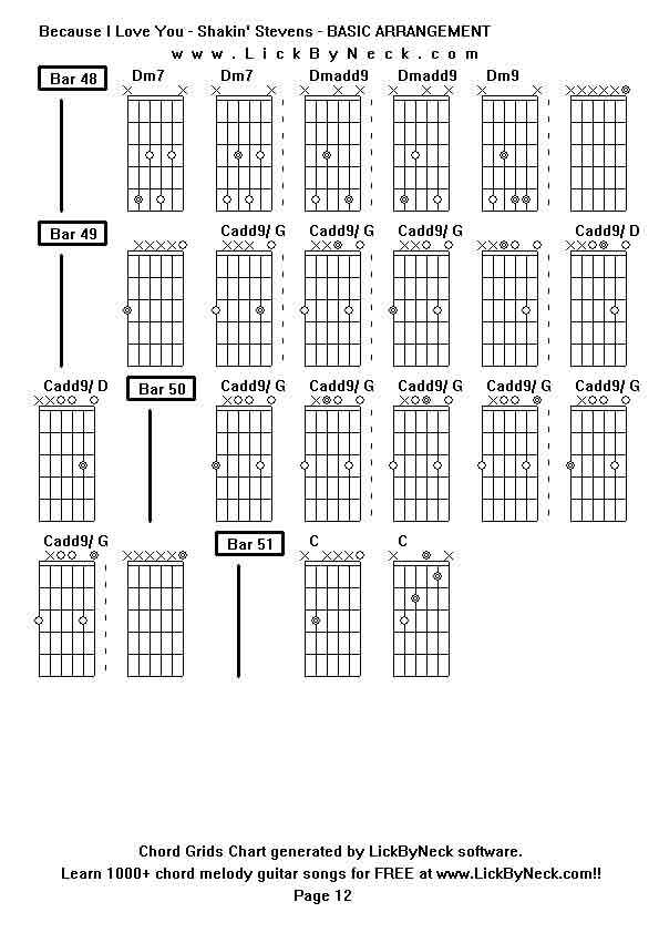 Because I Love You Shakin Stevens Guitar Chords Archidev