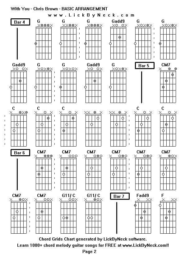 With You Chris Brown Chords Guitar Gallery - guitar chords finger ...