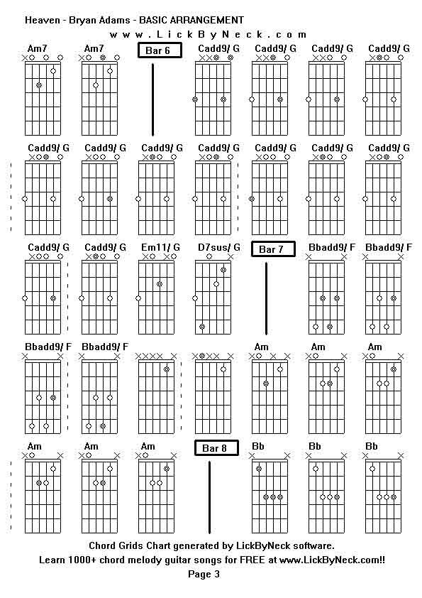 Heaven bryan adams guitar