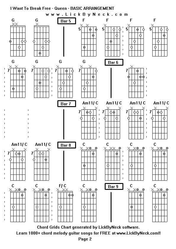 Break Even Guitar Chords