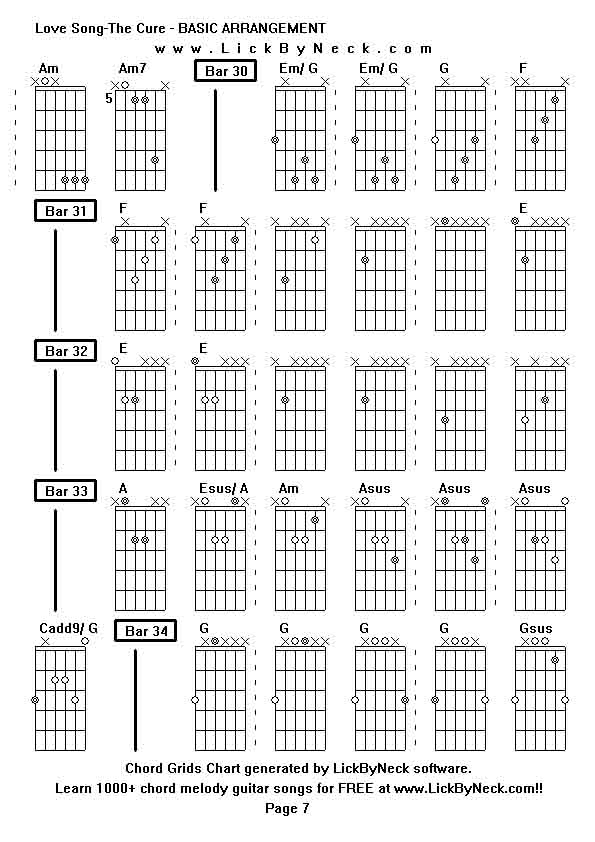 Modern Lovesong The Cure Chords Illustration - Song Chords Images ...
