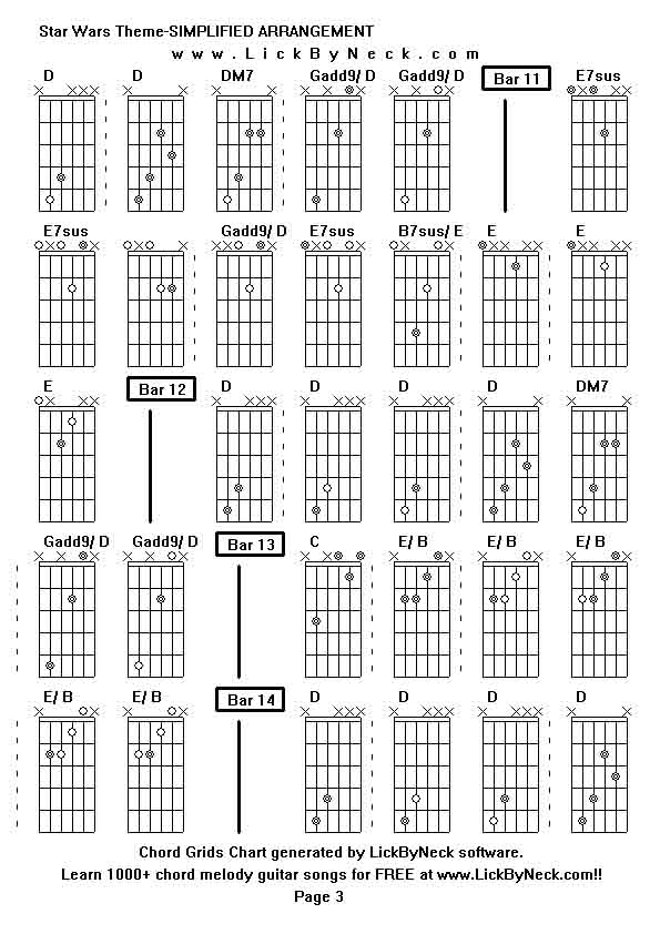 Star Wars Theme Guitar Chords Image collections - basic guitar ...