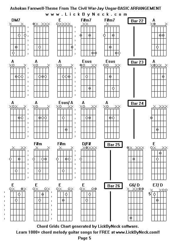 Ashokan Guitar Chords Guitar Song-ashokan