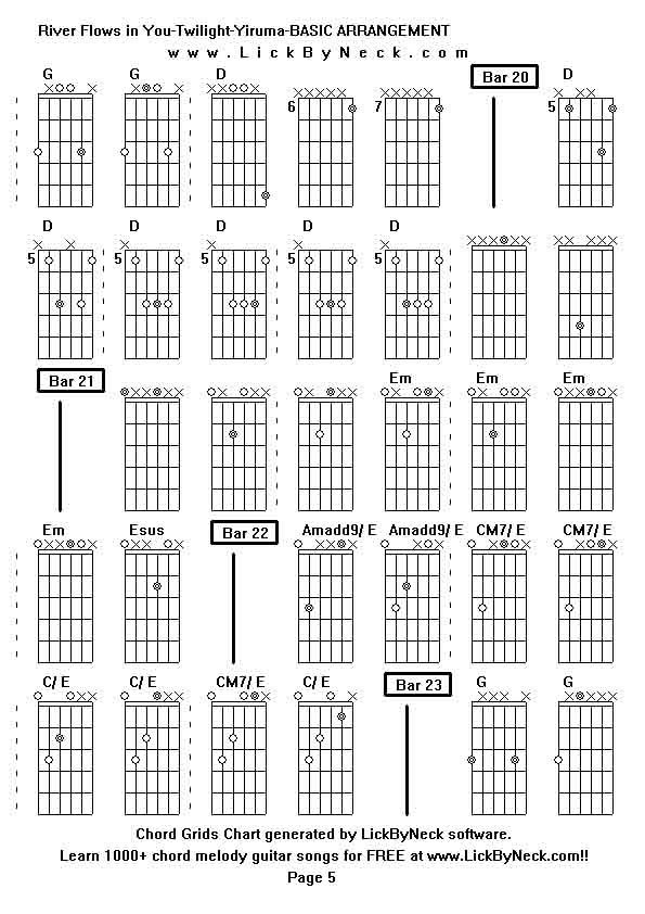 Funky River Flows In You Guitar Chords Adornment Basic Guitar