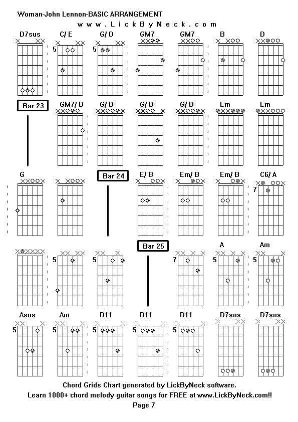 Modern Woman John Lennon Guitar Chords Sketch - Beginner Guitar ...