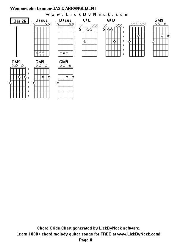 woman john lennon chords