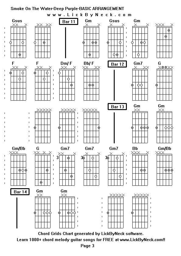Deep guitar chords
