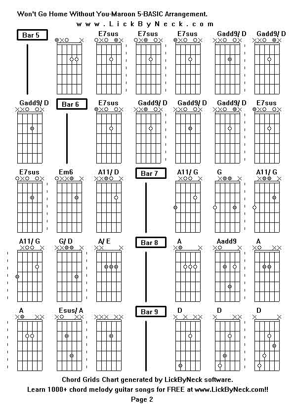 Wont Go Home Without You Guitar Chords