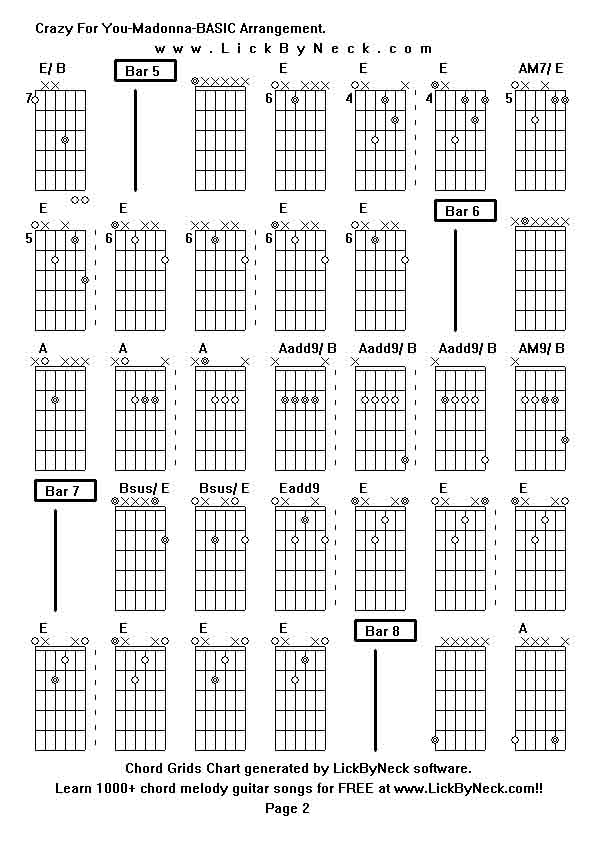 Dorable Guitar Chords For Crazy Festooning - Beginner Guitar Piano ...