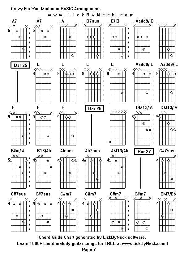 Modern Guitar Chords Of Crazy For You Gallery - Guitar Ukulele Piano ...