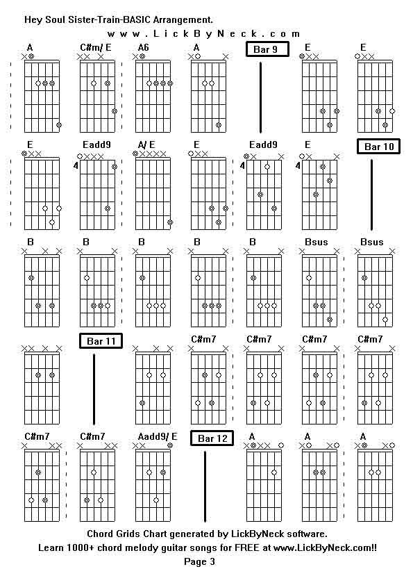 hey soul sister chords pdf
