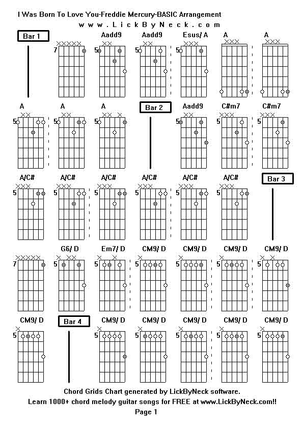 Guitar chords to you