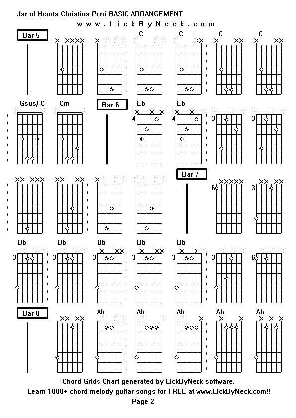 Guitar Chords For Jar Of Hearts