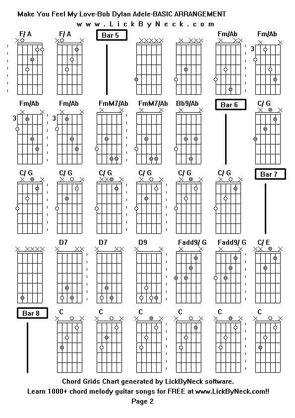 Guitar Chords To Make You Feel My Love Gallery Guitar Chords